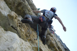 Alessio Roverato on pitch 4 of Cara in Val Gadena