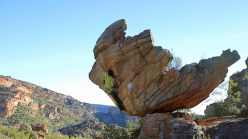 Michele Caminati sending the boulder problemThe hatchling FB8A, Rocklands, South Africa