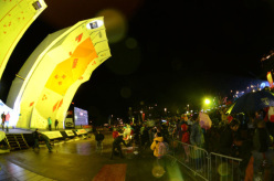 The first stage of the Lead World Cup 2012 at Chamonix