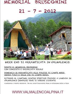 Sabato 21 luglio 2012 a Lanzada in Valmalenco va in scena il 12° Memorial Bruseghini