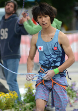 Japanese climber Sachi Amma during the Lead World Cup 2012.
