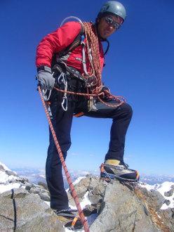 Rossano Libera on Monte Disgrazia