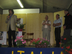 R. Messner, B. Pellegrinon, Heinl Messner and Sepp-Mayerl in Val di San Lucano to celebrate the 40th anniversary of the first winter ascent on 6/07/2008.