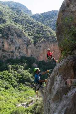 Rock climbing at Zaghouan, Tunisia