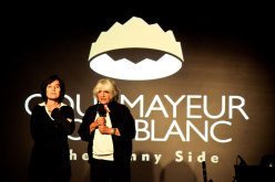 Fabrizia Derriard (Mayor of Courmayeur) and Rossana Podestà