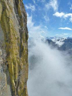 Il verticale profilo del Filo a Piombo, celebre via degli anni ottanta aperta da Giorda stesso.