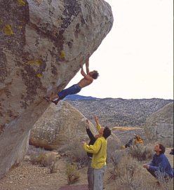 Fred Nicole on The Mandala, Bishop, USA in 2000.