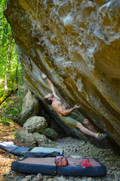 Fred Nicole on Le Boa 8C, Switzerland