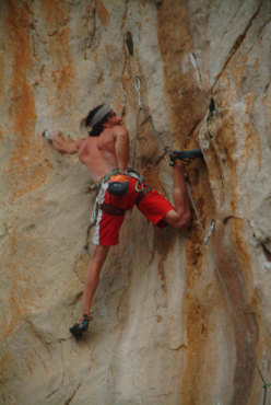 Mario Prinoth, arrampicata a San Vito Lo Capo