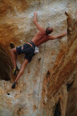 Riccardo Scarian, arrampicata a San Vito Lo Capo