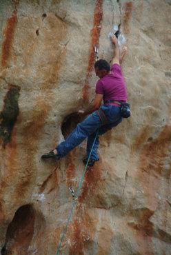 Severino Scassa, arrampicata a San Vito Lo Capo