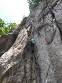 Wonderland, the new trad crag at Oncino in Piemonte