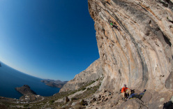 Rock climbing at Kalymnos