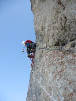 Giorgio Travaglia, sull'8° tiro del Pilastro Parmenide