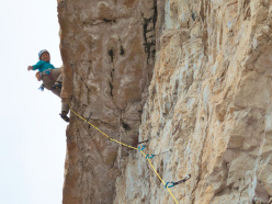 Stephanie Bodet & Arnaud Petit on the route Camillotto Pellesier