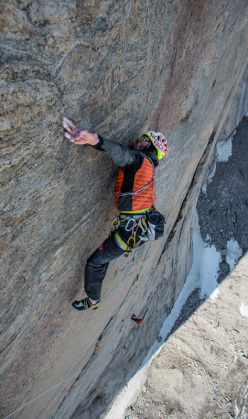 Baffin Island 2012: Hansjörg Auer climbing The Door, Belly Tower East Face, Perfection Valley