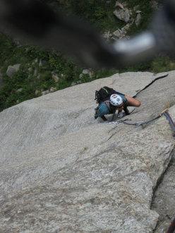 Alvise climbing Itaca nel sole