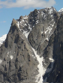 Levski Peak and its West Face, 5733m