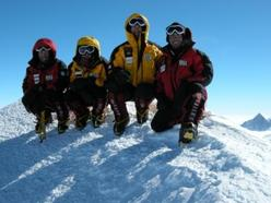 On the summit of Mount Vinson