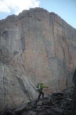 Sotto la parete E del Longs Peak