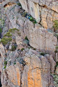 Kilian Fischhuber highball boulder in Australia