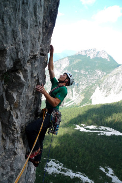 Forest Gump (VIII+, 600m), North Face of Rocchetta Alta, Bosconero, Dolomites.