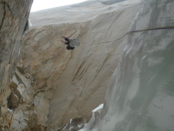 New route attempt by Dodo Kopold and Michal Sabovcik. The Illuminati pitch.