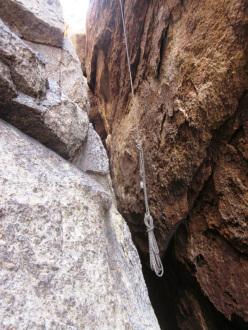 Joshua Tree wilderness climbing violations: abandoned gear