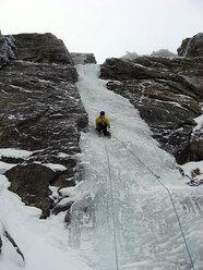 Sulla Cascata dell'inattesa sorpresa alle Rocce della Sueur, Bardonecchia