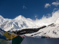 The eighth highest mountain in the world, Manaslu (8163m, Nepal, Himalaya)