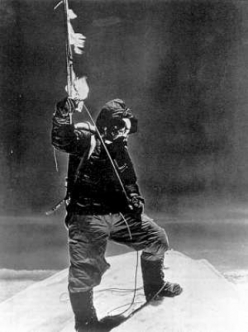 29 May 1953. Tenzing Norgay on the summit of Mount Everest, photographed by Sir Edmund Hillary.