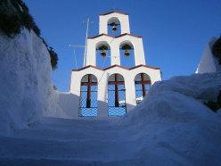 Saint Pantheleion punto di partenza per salire alla falesia della Project Competition