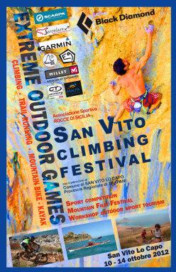 Dal 10 al 14 ottobre si svolgerà a San Vito Lo Capo (TP) il Sanvito Climbing Festival