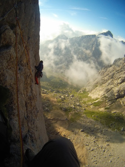 On 15 August we decide to climb Tempi Moderni, the best route of our entire trip!