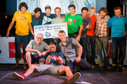 Awards Project Competition. Front row: Iker Pou, Yuji Hirayama, Jonathan Siegrist. Back row: Hansjörg Auer, Sam Elias, Kilian Fischhuber, Gabriele Moroni, Dani Andrada, Andre Neres, Alexander Megos, Nicolas Favresse, Michael Fuselier.