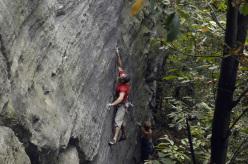 Donato Lella climbing at Lungaserra