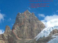 Poco Loco, Puscanturpa Este (5410m), Peru. Bas van der Smeede, Elly van der Plas, Bas Visscher, Vincent van Beek and Saskia van der Smeede 08/2012