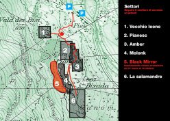 The access map to the boulders at Brione, Valle Verzasca, Switzerland