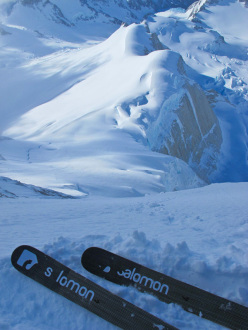 Aguja Poincenot, Patagonia: This is one of the few photos I took from the ramp... I was much more concentrated on skiing than taking photos that day...