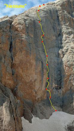 Route line Nessuno, Cima Vay Vay