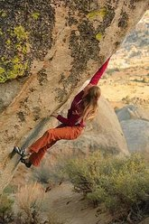 Lisa Rands on The Mandala V12, Buttermilks, Bishop, U.S.A.