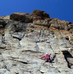 Su L8 di Eppure il vento soffia ancora, Rocca la Meja, Val Maira
