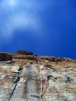 Max su L9 di Eppure il vento soffia ancora, Rocca la Meja, Val Maira