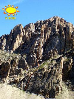 Tracciato di Eppure il vento soffia ancora, Rocca la Meja, Val Maira