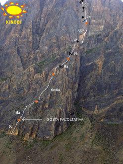 Tracciato di Up Down, Rocca la Meja, Valle Maira