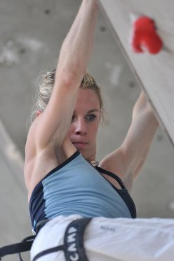 Maja Vidmar competing at the Arco Rock Master 2010