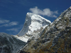 10/2012: Prow of Shiva ED+, Mick Fowler and Paul Ramsden. This photo was taken by a Russian expedition to Shiva in 2011.