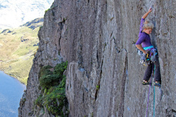 Hazel Findlay, Pavey Ark, Lake District, Inghilterra