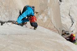 Matteo Della Bordella su Freerider, El Capitan, Yosemite