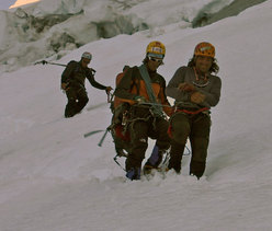The descent after the accident.